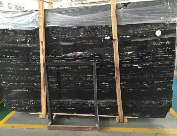 Black Portoro Waves Marble