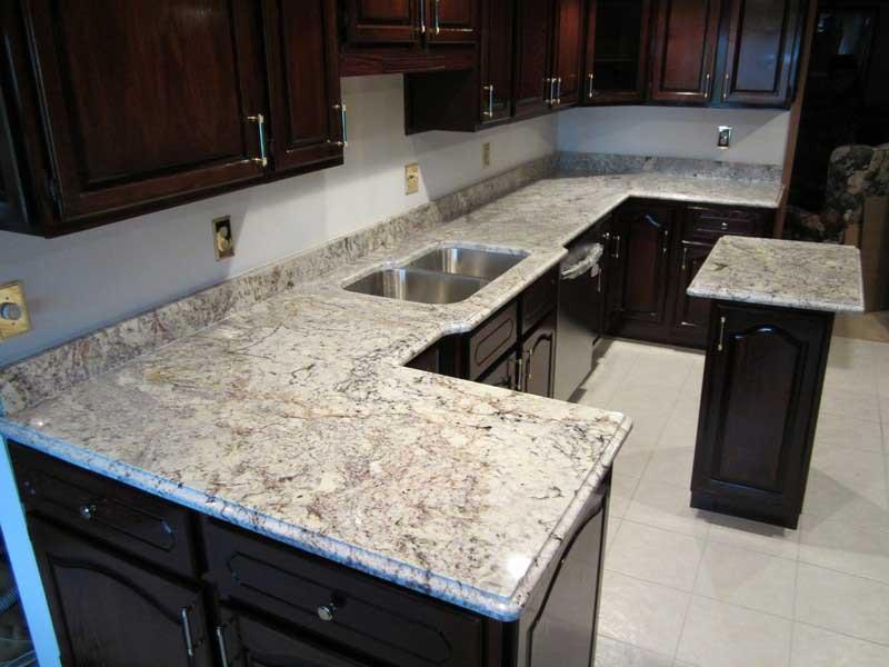 White Galaxy Stone Kitchen White