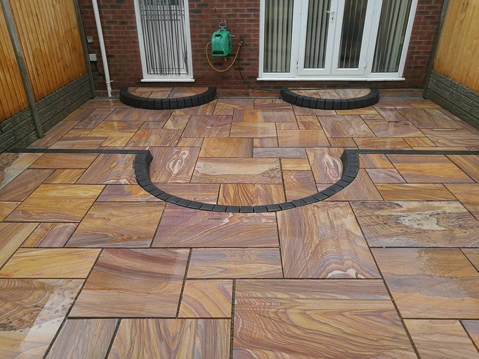 Rainbow Sandstone Tiles For Exterior Flooring Rk Marble India